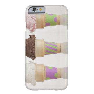 Tres conos de helado funda de iPhone 6 barely there