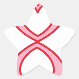 Tres corazones en estilo afortunado del número 8 pegatina en forma de estrella