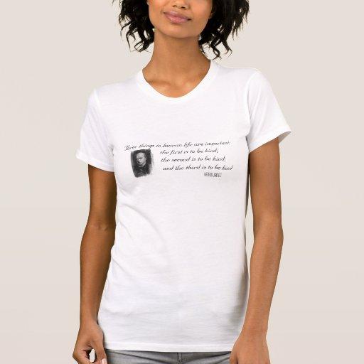 Tres cosas importantes en vida camisetas