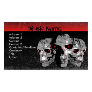 Tres cráneos tarjetas de visita