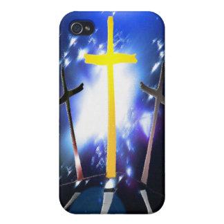 Tres cruces en el Calvary iPhone 4 Fundas
