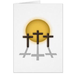 Tres cruces felicitación