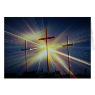 Tres cruces tarjeta pequeña