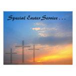 Tres cruces y salidas del sol tarjetas publicitarias