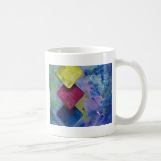 Tres cuadrados tazas de café