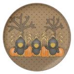 Tres cuervos Spooked Platos Para Fiestas