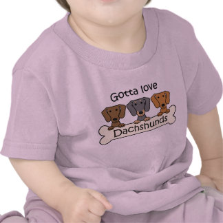 Tres Dachshunds Camisetas