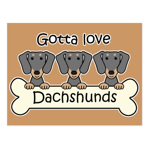 Tres Dachshunds Postal
