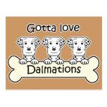 Tres Dalmations Tarjeta Postal