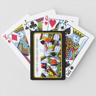 Tres de una clase baraja cartas de poker