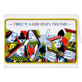 Tres de una clase tarjetas