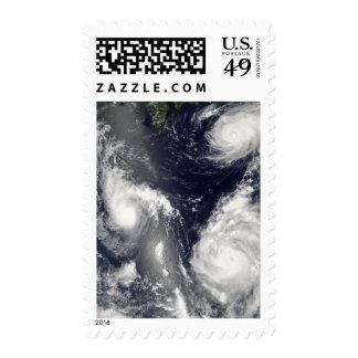 Tres diversos tifones sello