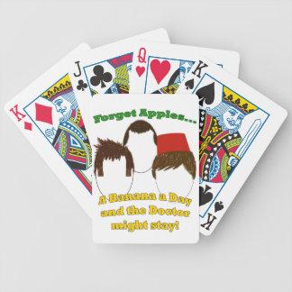 Tres doctores, manzanas, y plátanos baraja cartas de poker