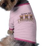 Tres dogos franceses camiseta de perrito