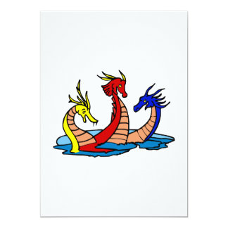 Tres dragones que juegan invitacion personal