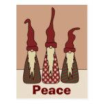 Tres duendes sabios, postal