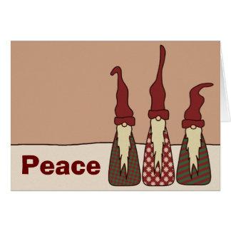 Tres duendes sabios tarjeta de felicitación