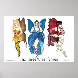 Tres el poster sabio de las hadas 11x17