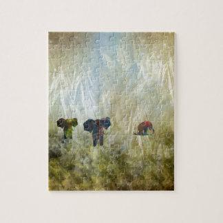Tres elefantes puzzles con fotos