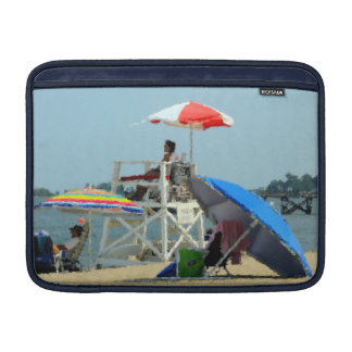 Tres en la manga de aire de MacBook de la playa Funda Para Macbook Air