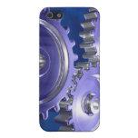 tres engranajes del cromo iPhone 5 protector