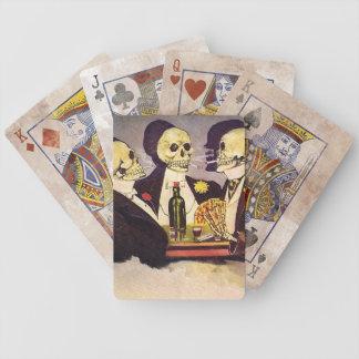 Tres esqueletos cartas de juego