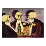 Tres esqueletos plantilla de tarjeta de visita