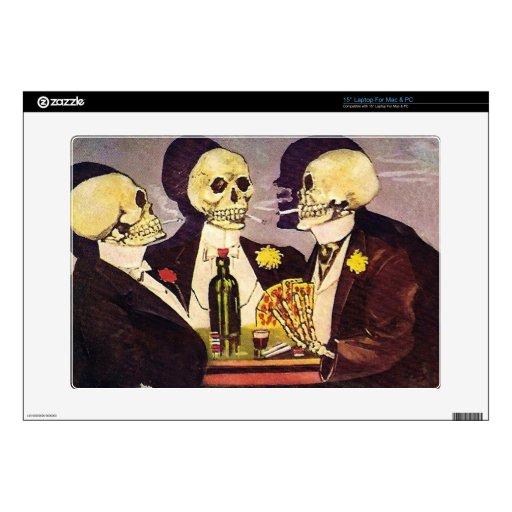 Tres esqueletos portátil calcomanías