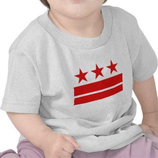 Tres estrellas 2 barras camisetas