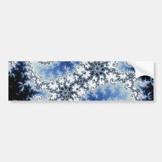 Tres estrellas azules - diseño del fractal pegatina para auto
