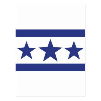 tres estrellas azules postales