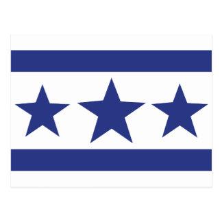 tres estrellas azules tarjeta postal