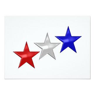 Tres estrellas brillantes invitación 13,9 x 19,0 cm