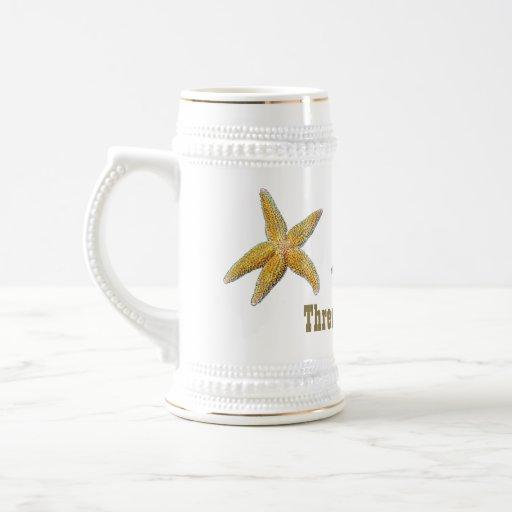 Tres estrellas de mar generales Stein de la Jarra De Cerveza