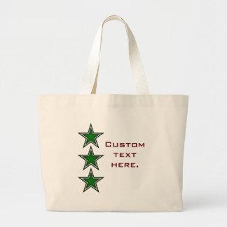 Tres estrellas verdes bolsa
