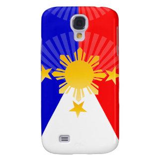 Tres estrellas y una bandera filipina estilizada funda para galaxy s4