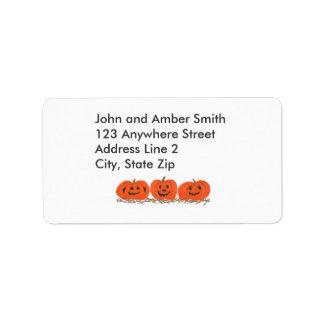 Tres etiquetas de dirección felices de Halloween