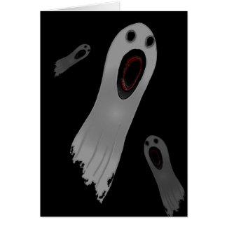 Tres fantasmas tarjeta de felicitación