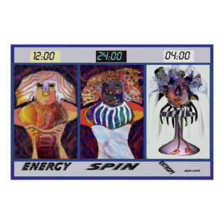 Tres fases por Talisbird Posters