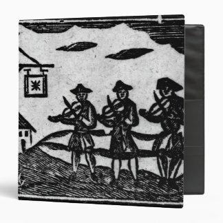 Tres Fiddlers, 'de baladas de Roxburghe del libro