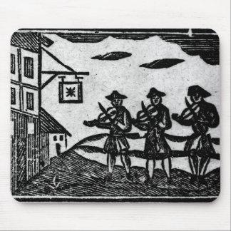 Tres Fiddlers, 'de baladas de Roxburghe del libro Tapete De Raton