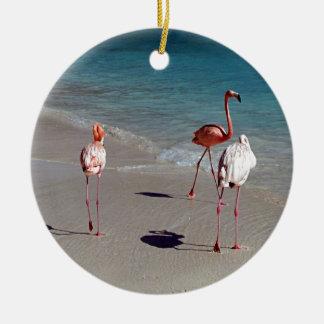 Tres flamencos de Aruba Adorno De Reyes