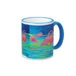 Tres Flamingos mug