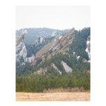 Tres Flatirons Boulder Colorado Membrete Personalizado