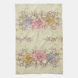 Tres flores, país del vintage floral toalla de cocina