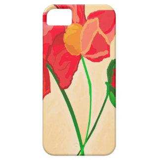 Tres flores rojas funda para iPhone SE/5/5s