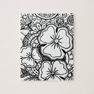 Tres flores Zendoodle 062514, rompecabezas