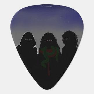 Tres furias plumilla de guitarra