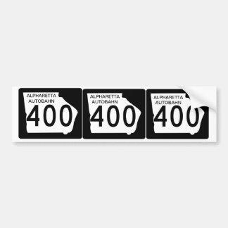 "TRES GA 400"" Autobahn de Alpharetta "" Pegatina Para Auto"
