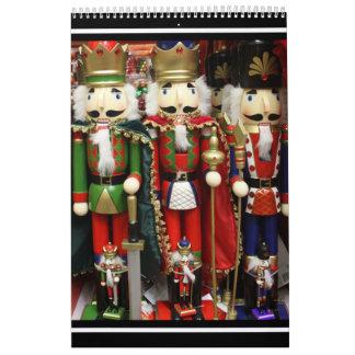Tres galletas sabias - soldados del cascanueces calendario de pared